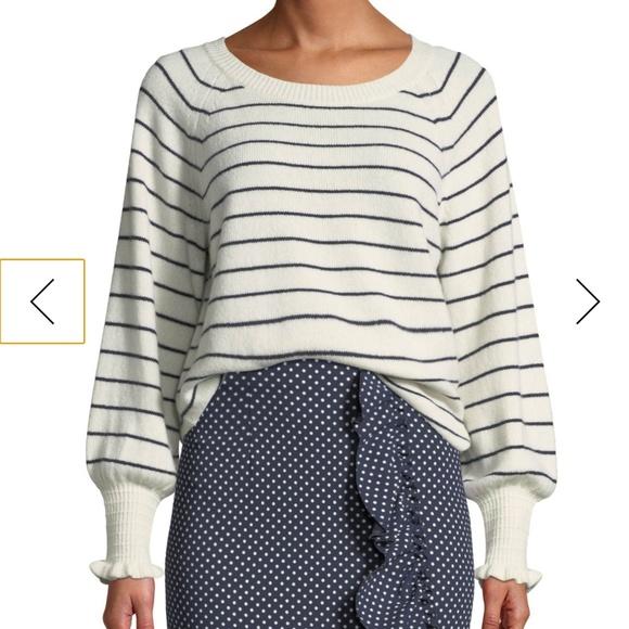 Rebecca Taylor Sweaters - Rebecca Taylor WoolCotton Striped Sweater